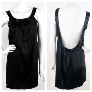 Anthropologie Yumi Kim Silk Beaded Open Back Dress